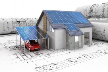 Photo How to install solar panels for the home?